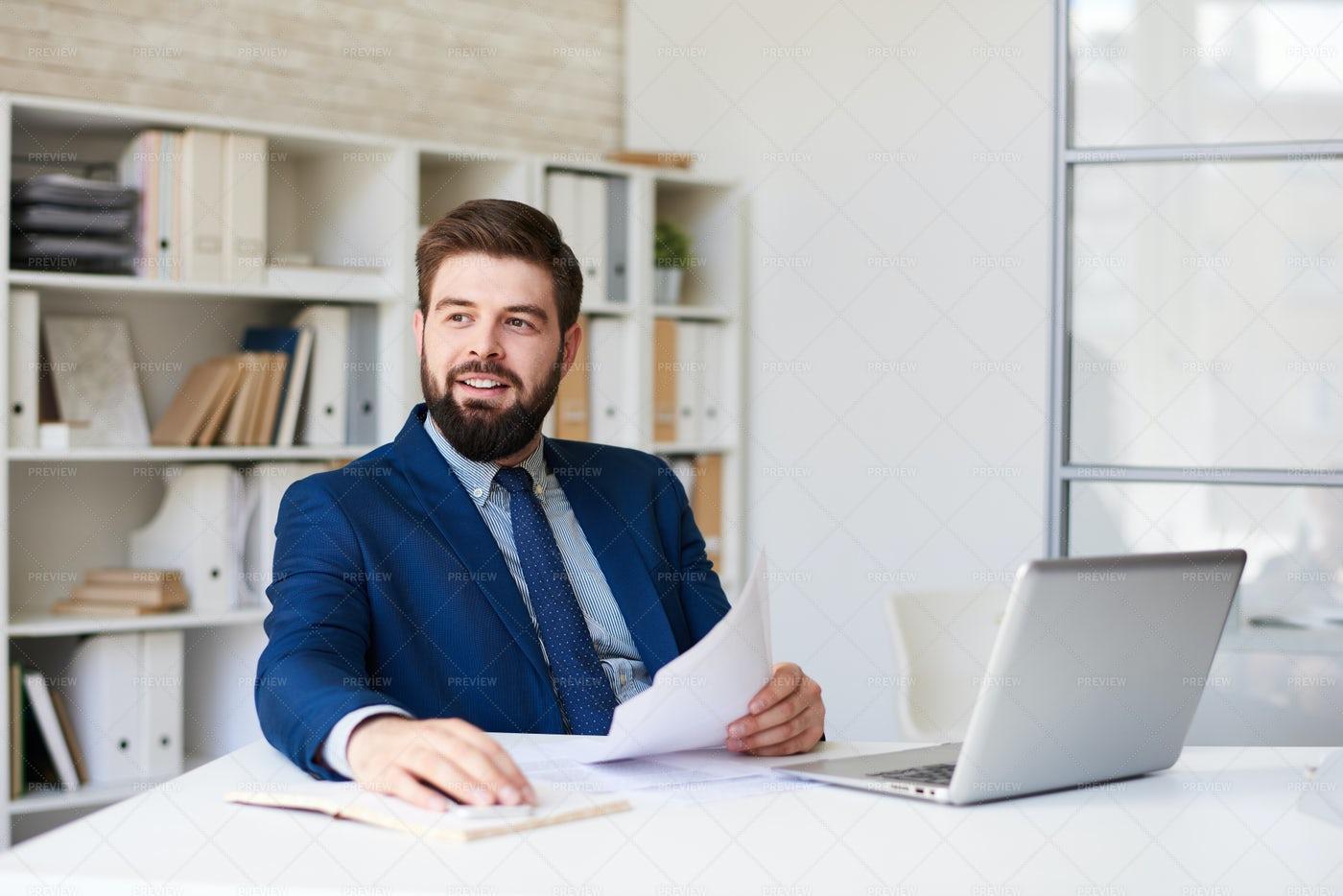 Successful Businessman In Modern...: Stock Photos