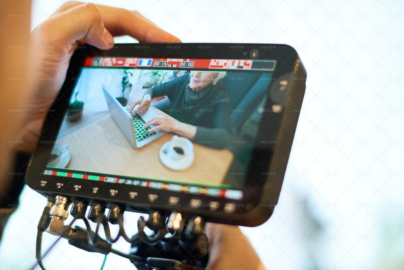 Recording Via Modern Camera: Stock Photos