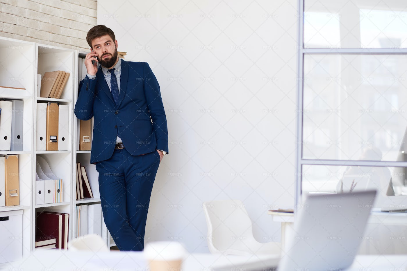 Business Professional Making Phone...: Stock Photos