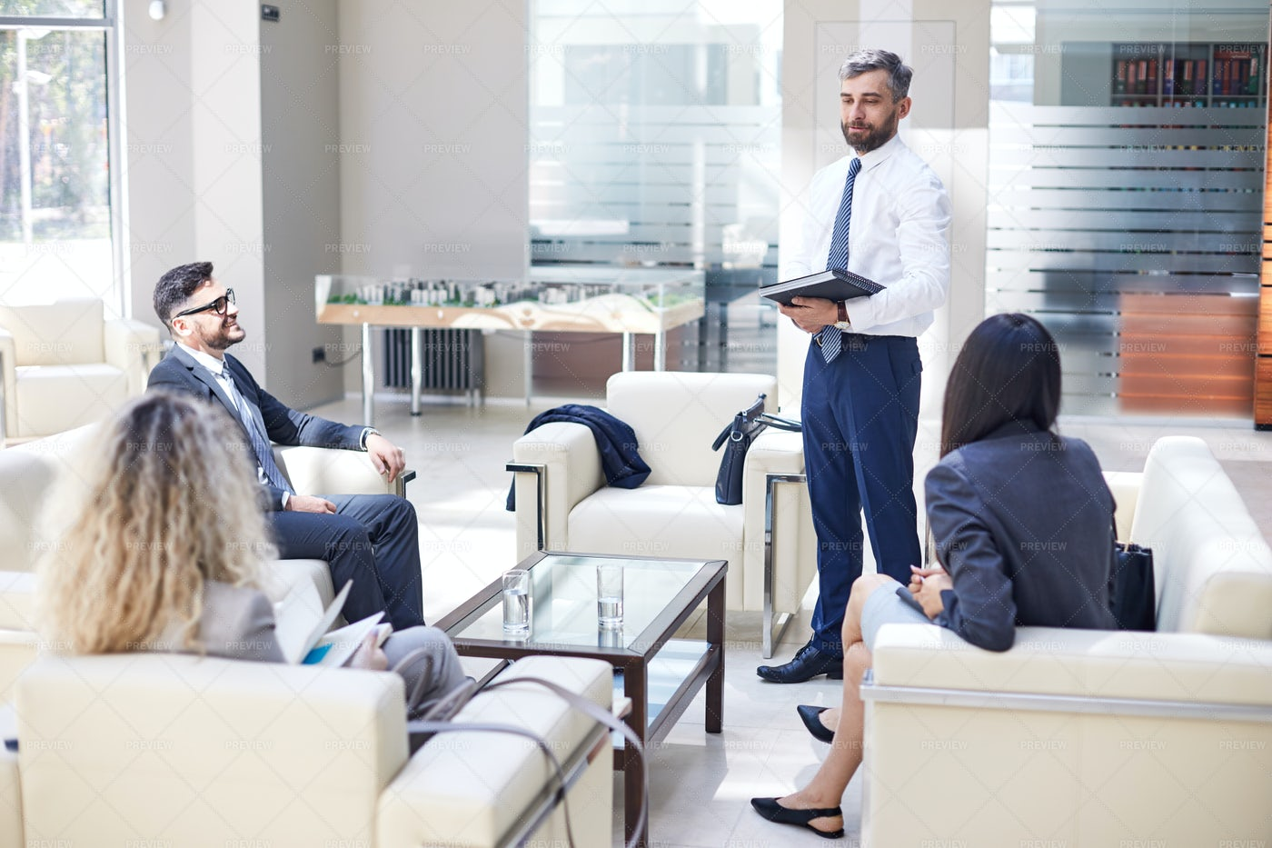Productive Working Meeting Of...: Stock Photos