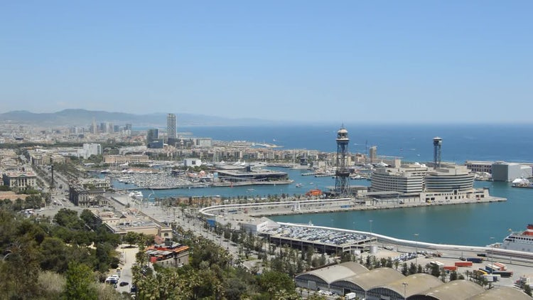 Barcelona Shore: Stock Video