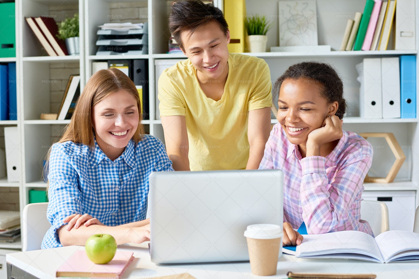 Study Session In College: Stock Photos