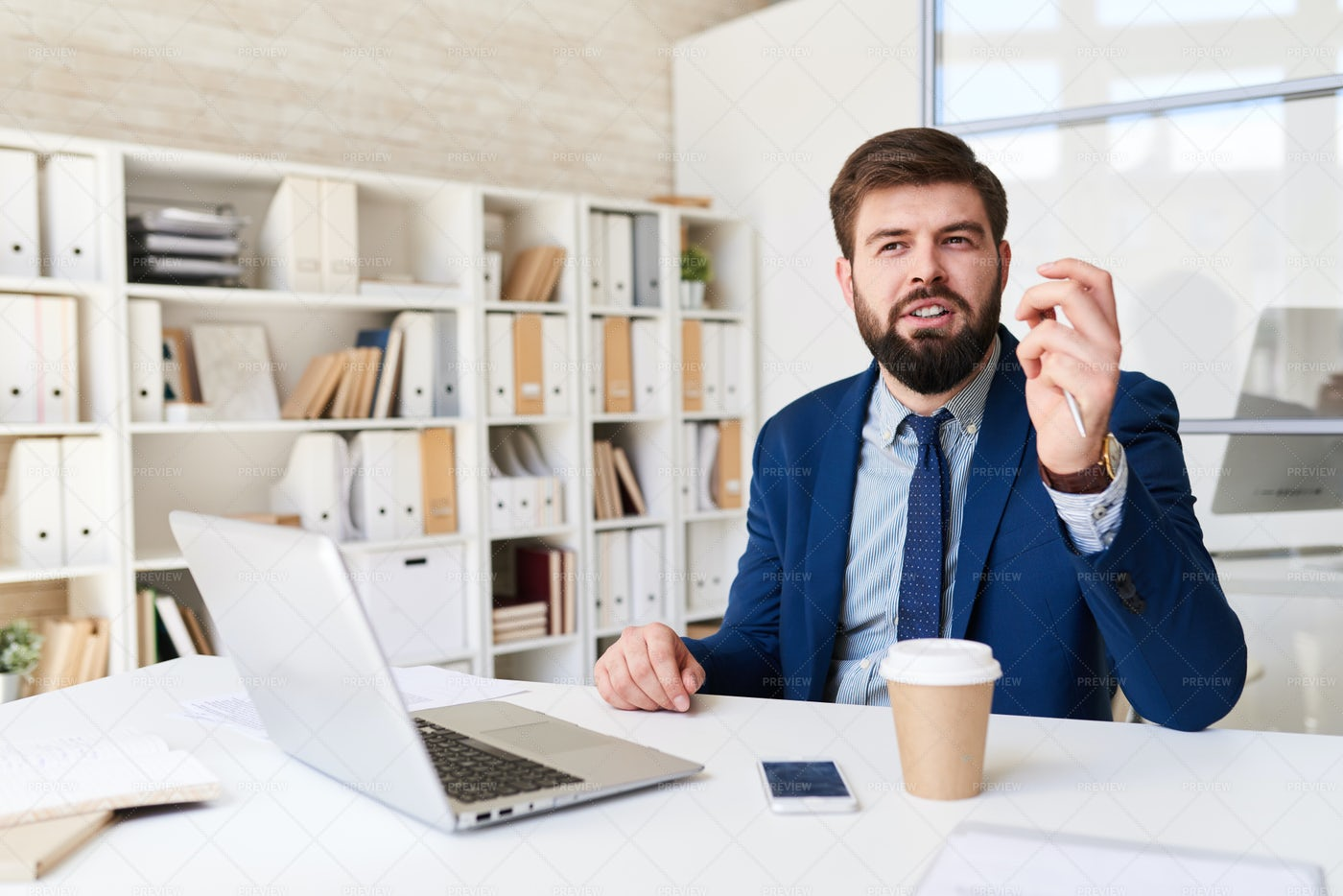 Businessman Planning Project In...: Stock Photos