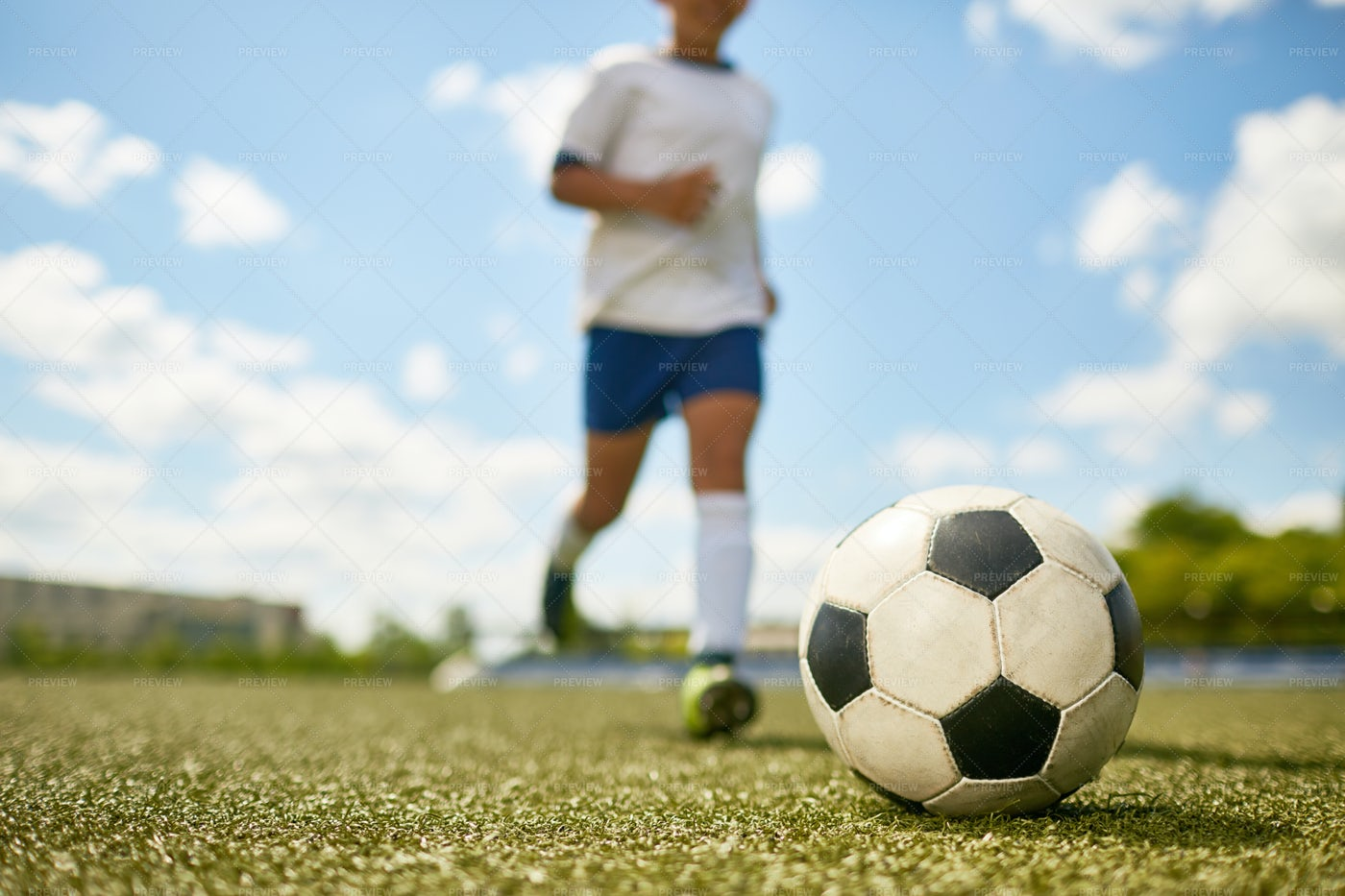 Young Boy Playing Sports: Stock Photos