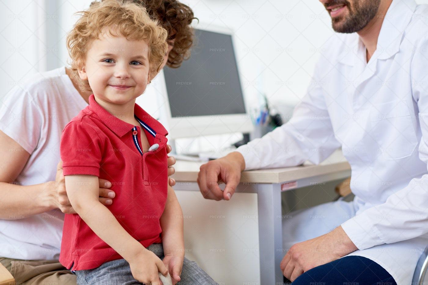 Smiling Toddler Measuring...: Stock Photos