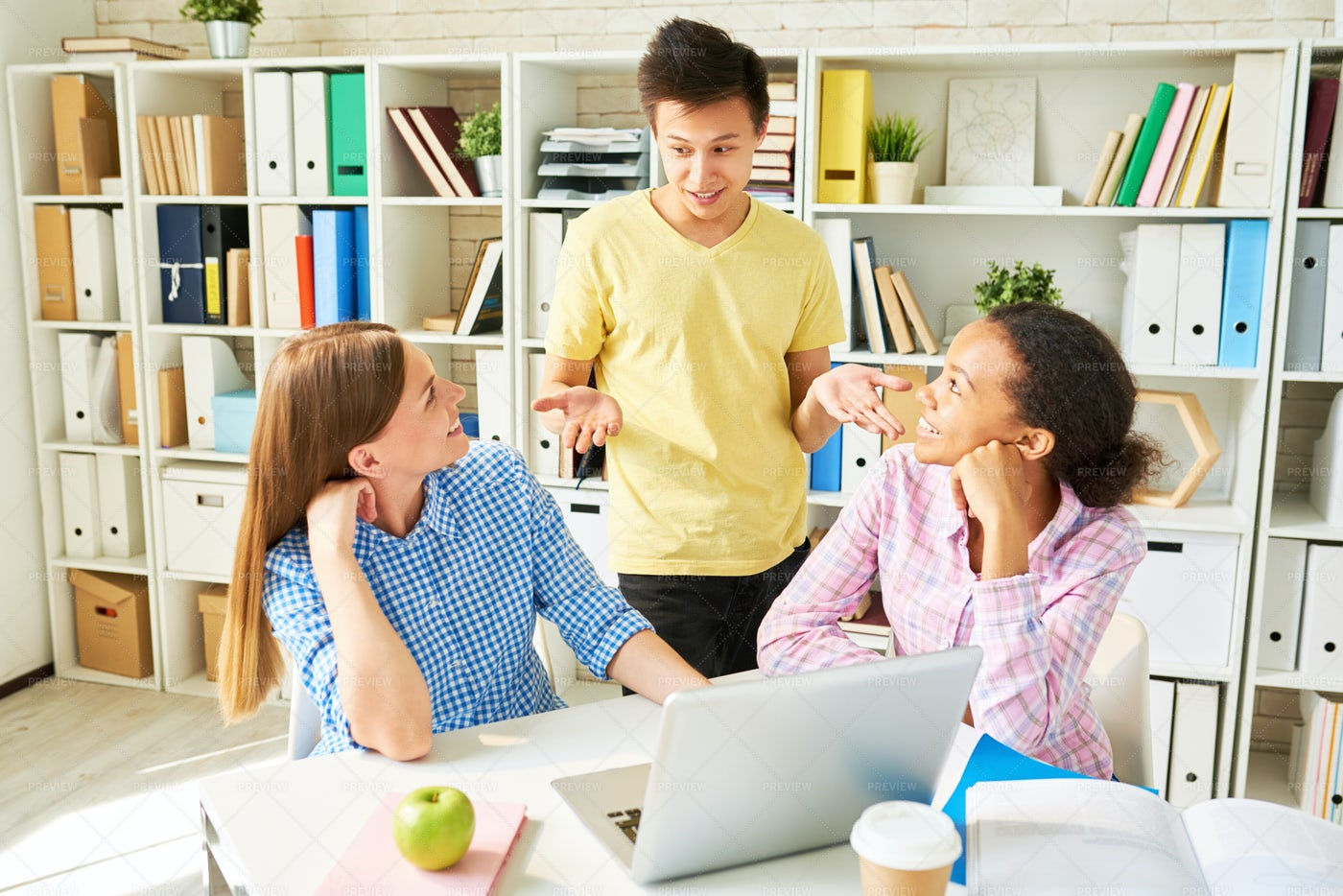 Group Project In College: Stock Photos