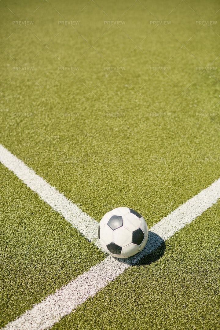 Ball On Football Field: Stock Photos