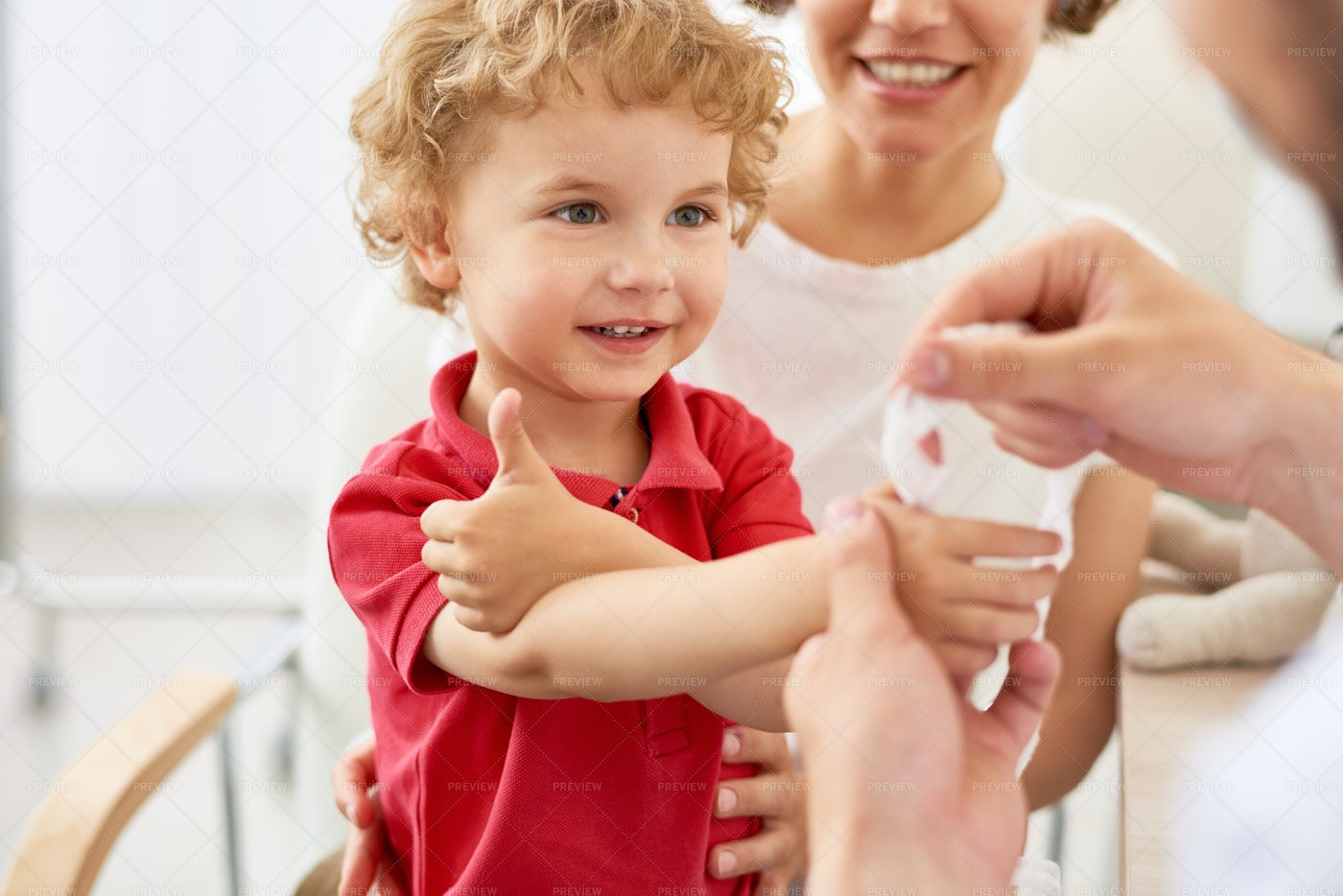 Satisfied Little Patient: Stock Photos