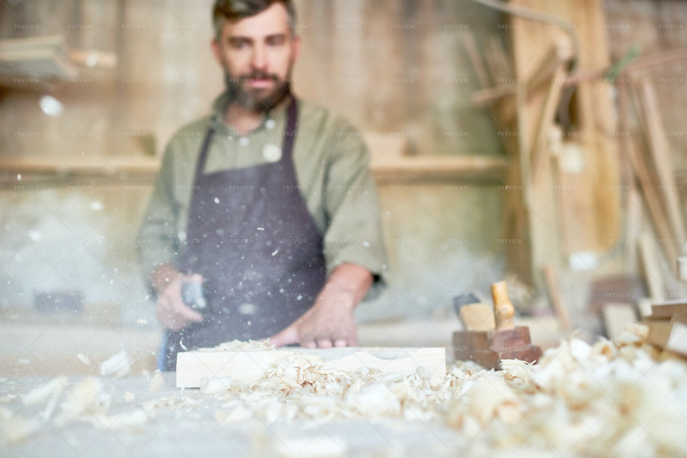 Traditional Joinery Shop: Stock Photos