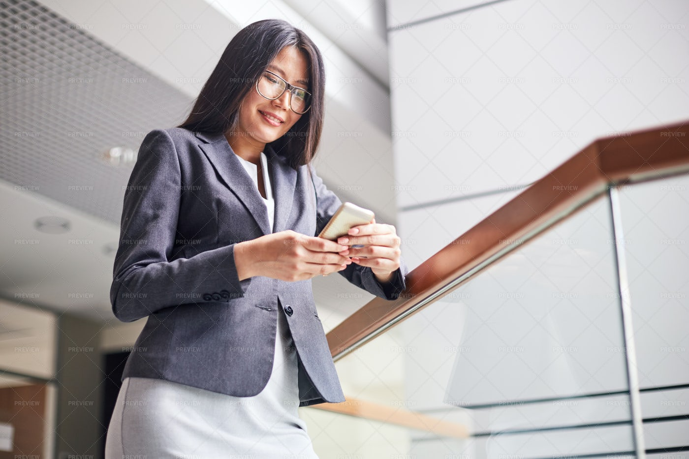 Texting With Friend On Smartphone: Stock Photos