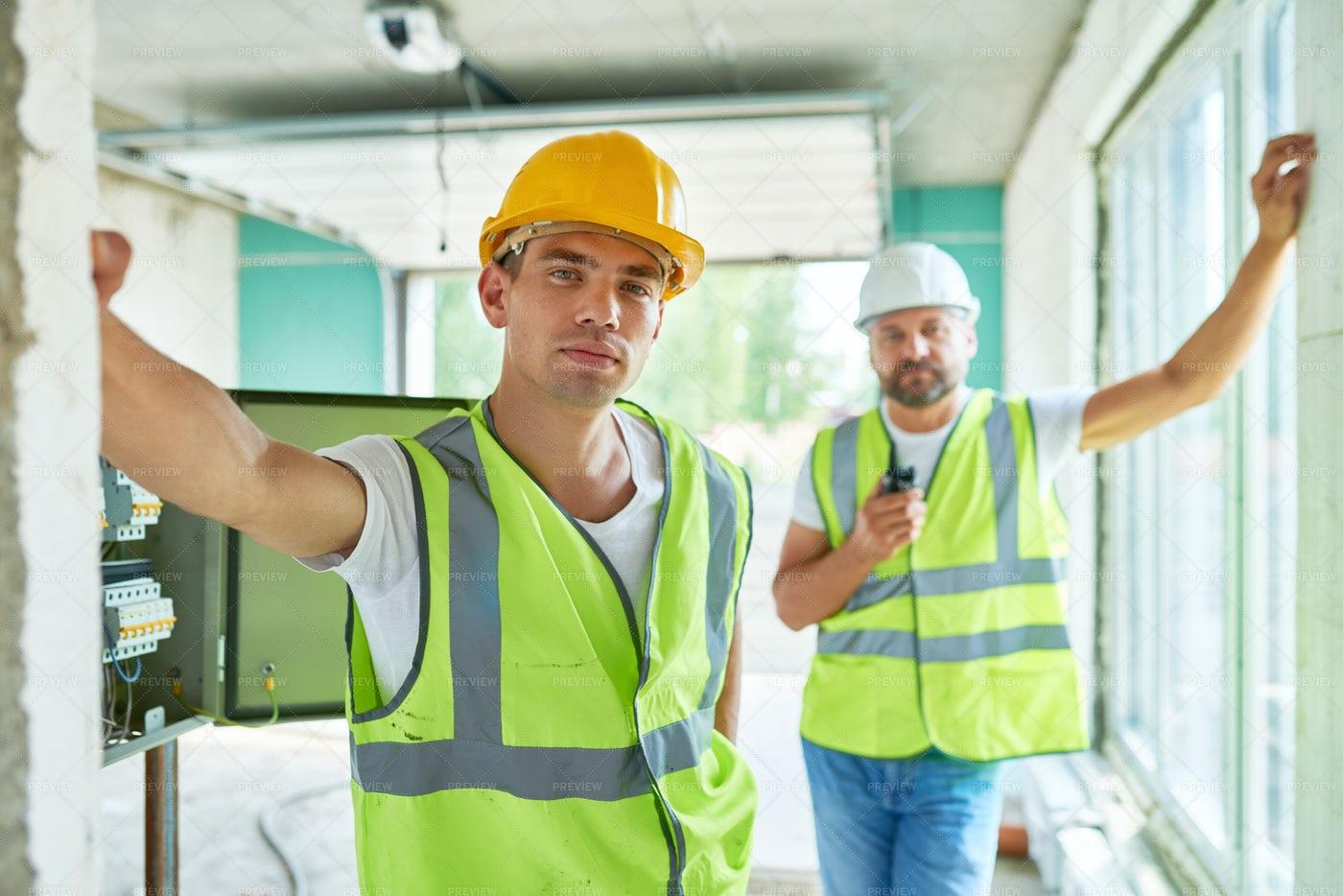 Professional Builders Team: Stock Photos