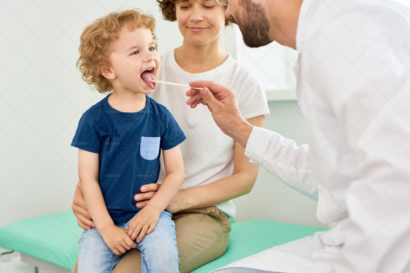 Little Boy Visiting Pediatrician: Stock Photos