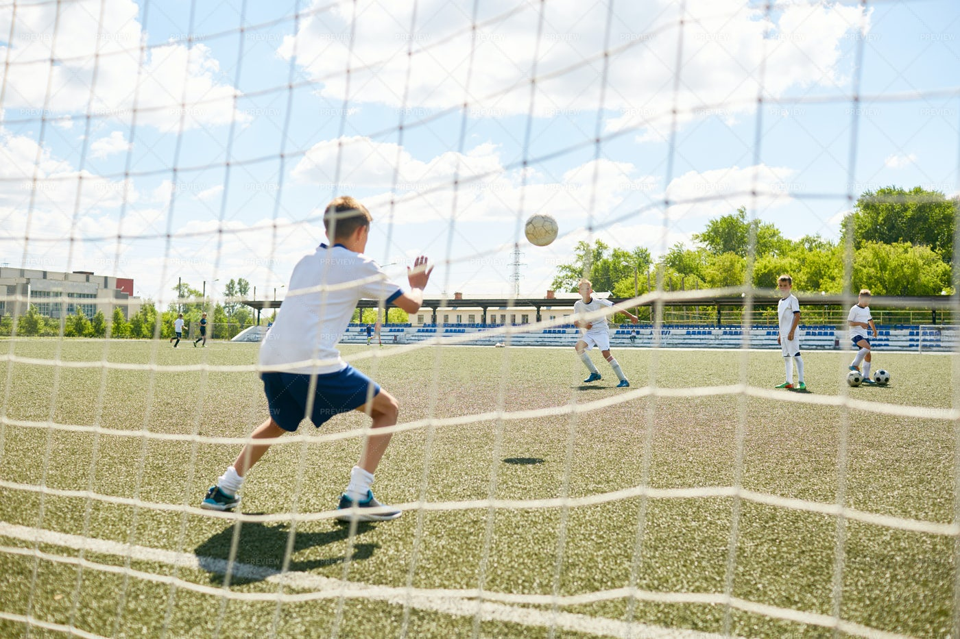 Junior Team Goalkeeper: Stock Photos