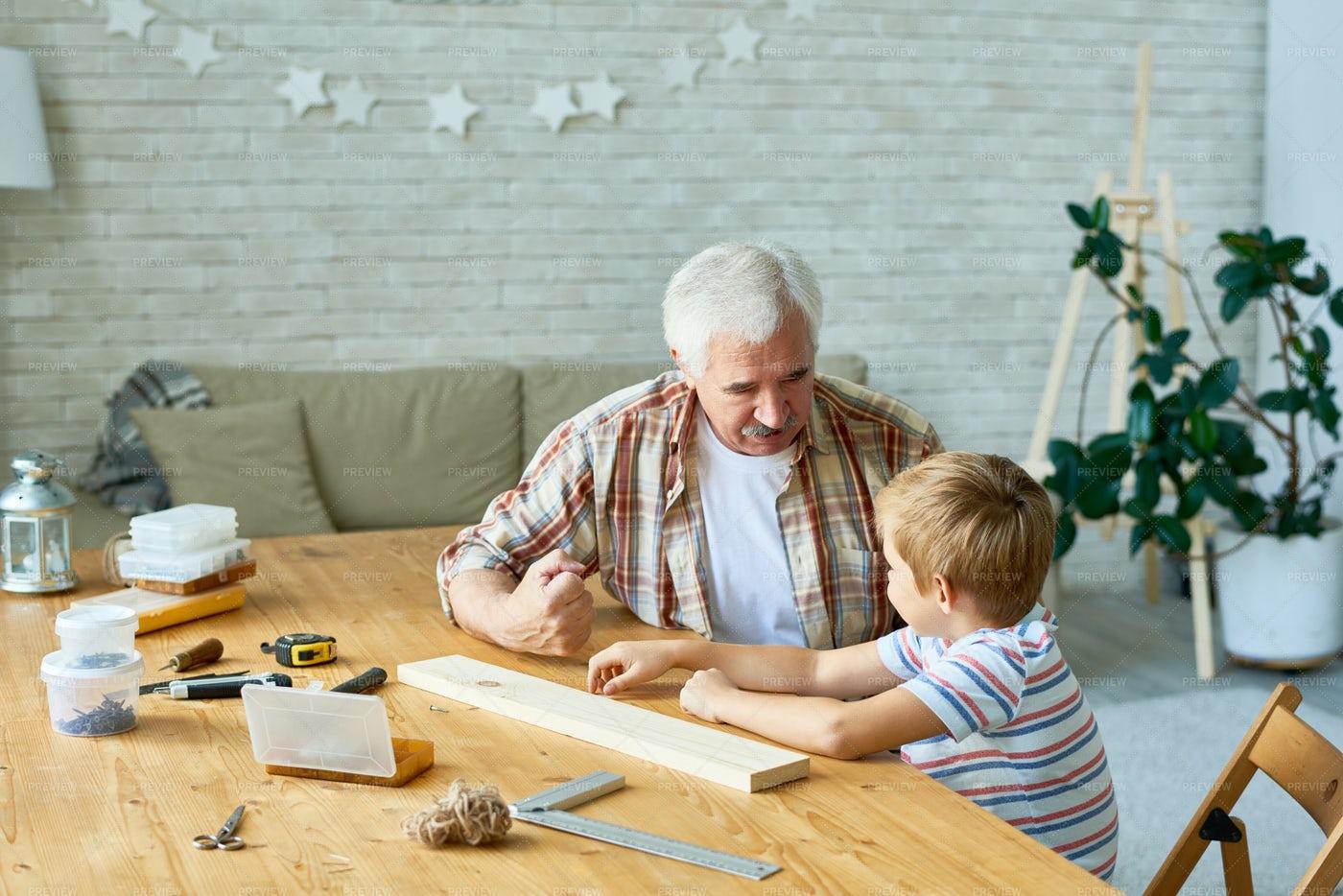 Loving Grandfather Spending Time...: Stock Photos