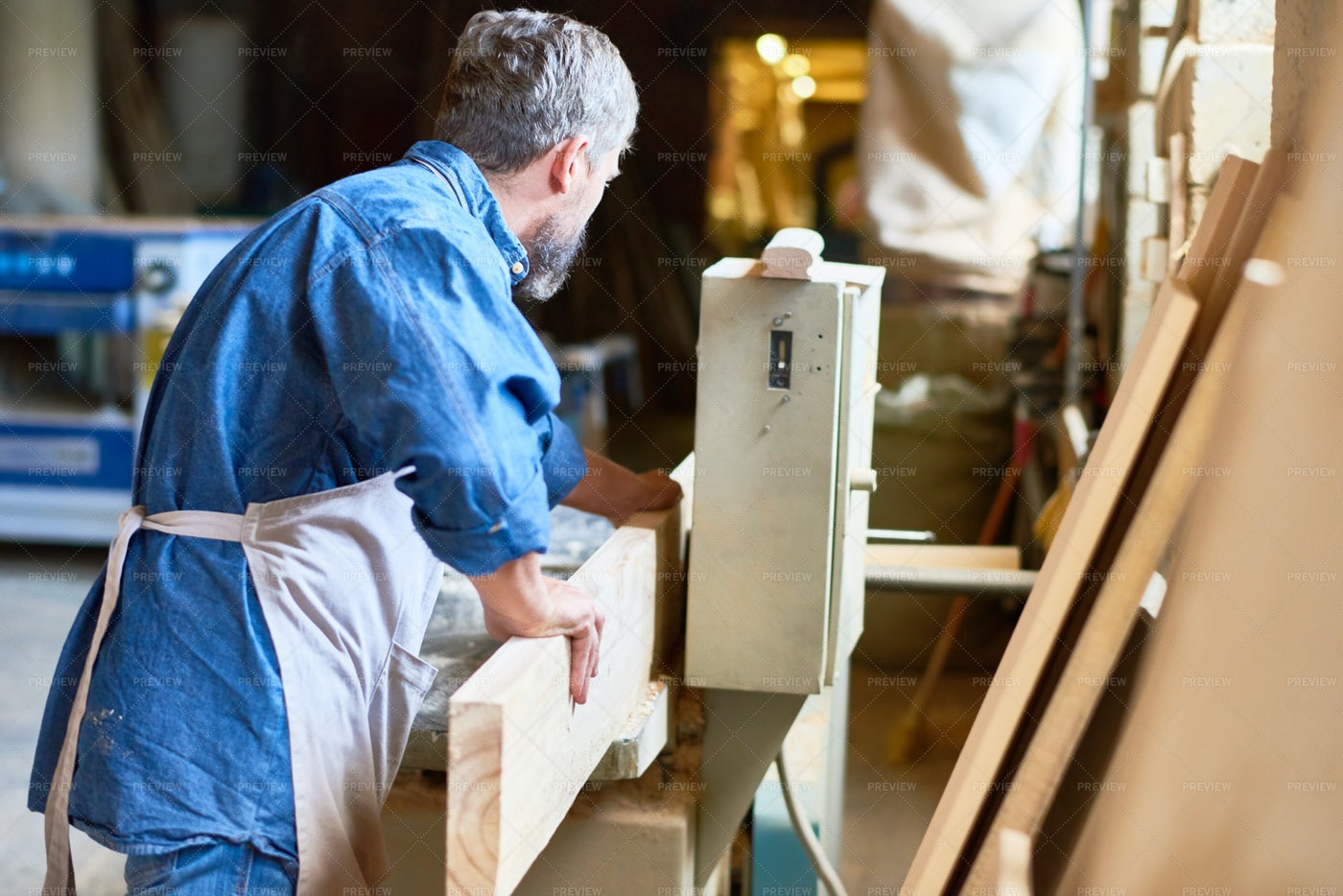Work Process In Joinery: Stock Photos