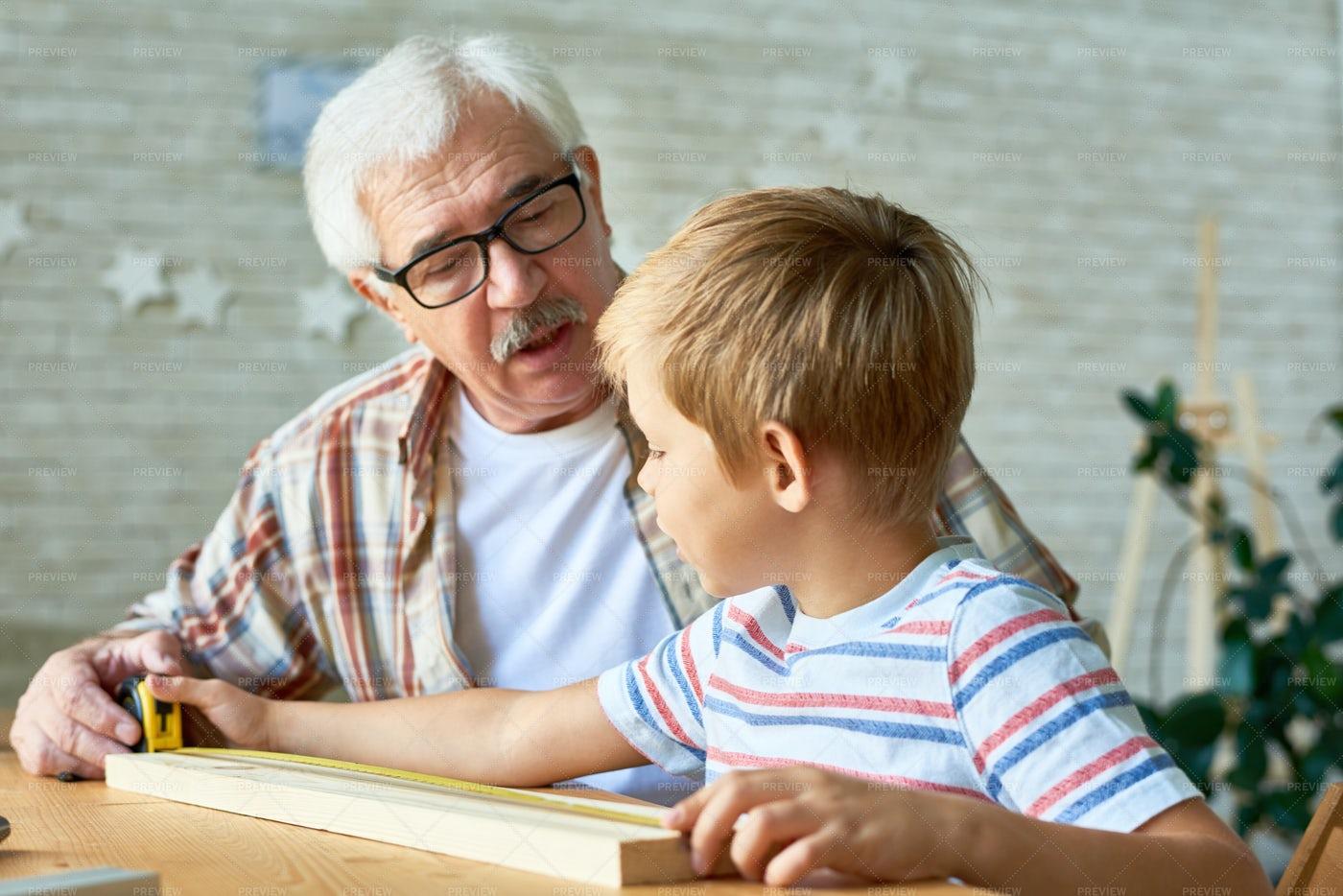 Loving Grandfather Spending...: Stock Photos