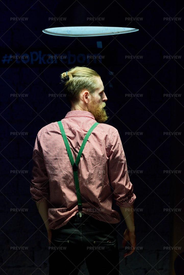 Contemporary Young Man Posing In...: Stock Photos
