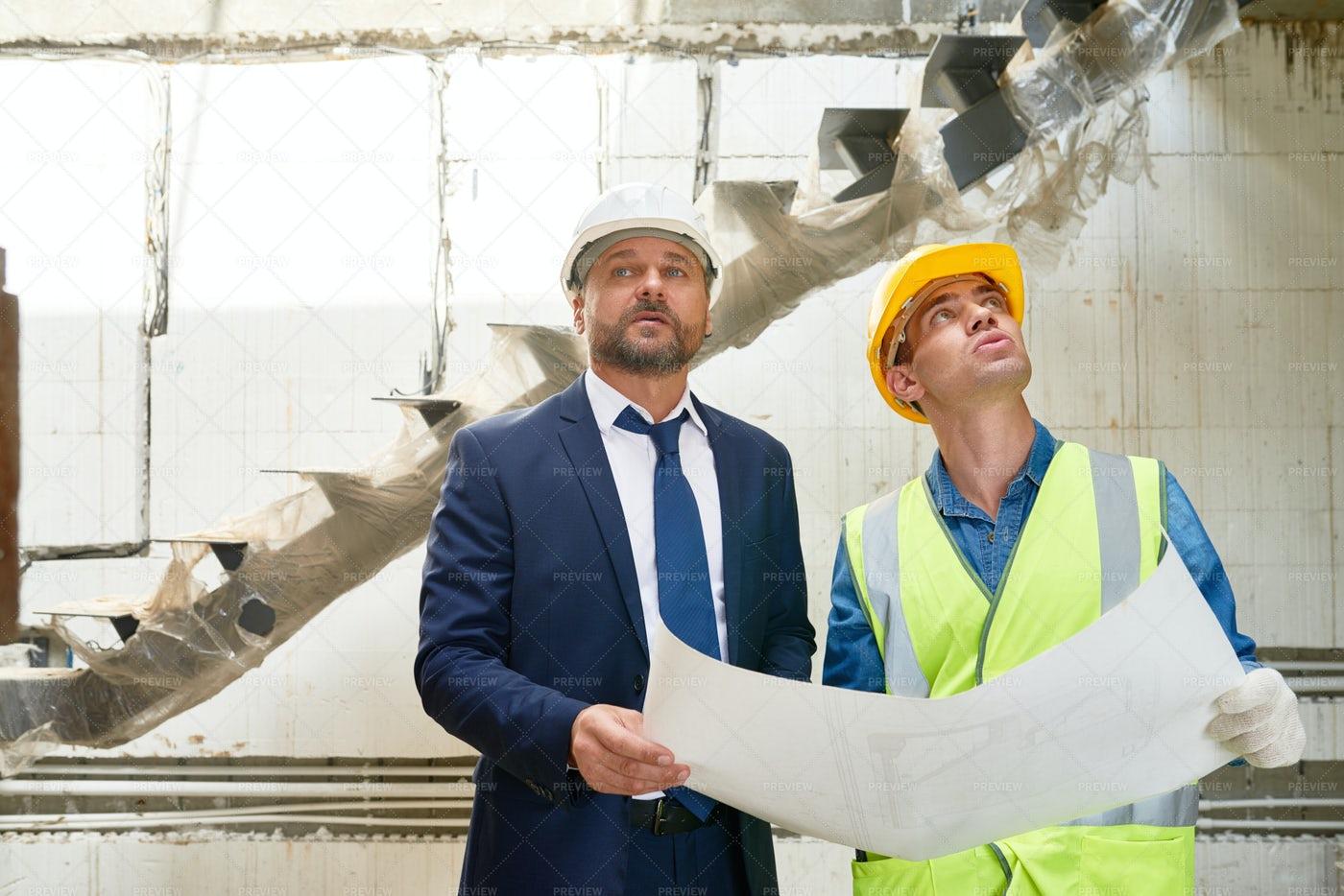 Businessman On Construction Site: Stock Photos