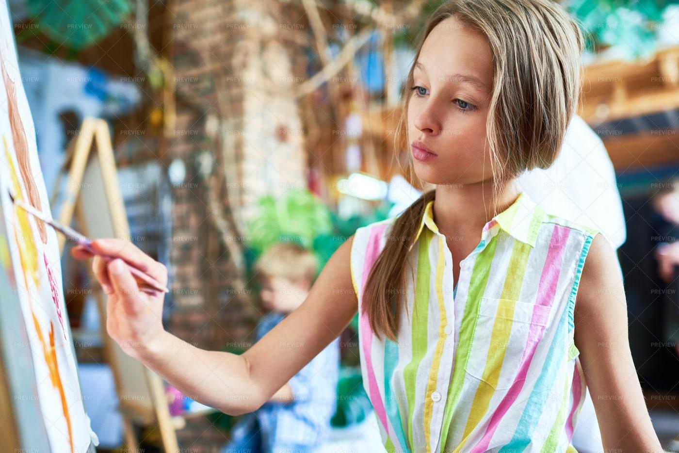Talented Little Girl: Stock Photos
