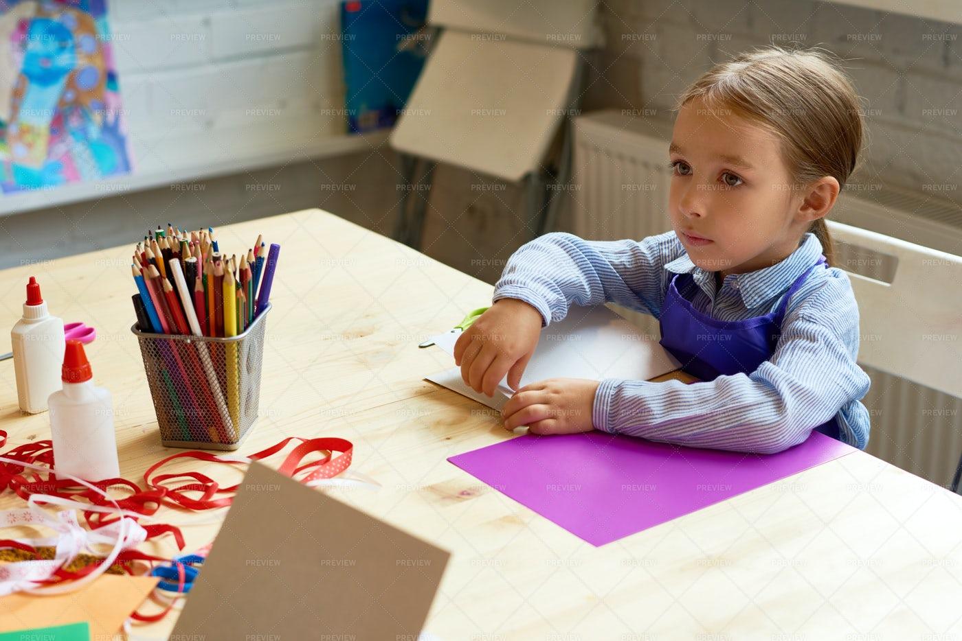 Adorable Little Girl In Development...: Stock Photos