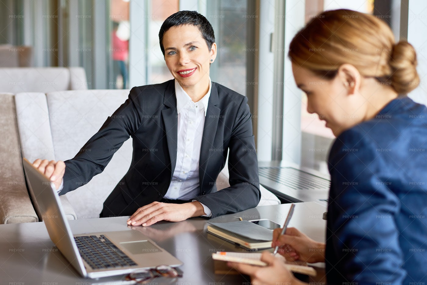 Having Project Discussion With...: Stock Photos