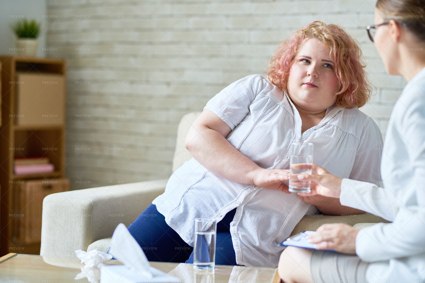 Therapy Session At Psychologists...: Stock Photos