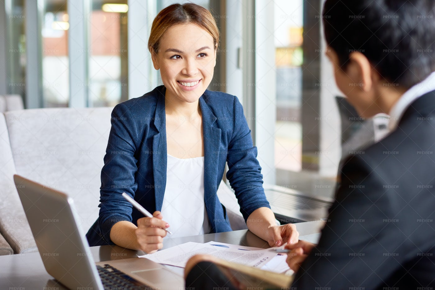 Productive Negotiations Of Business...: Stock Photos