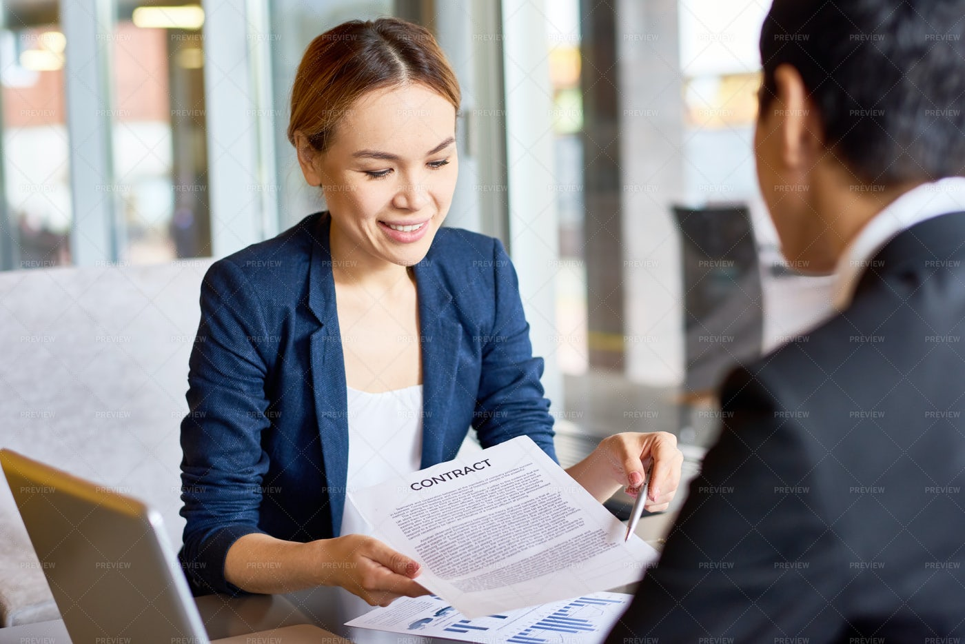 Business Partners Discussing...: Stock Photos