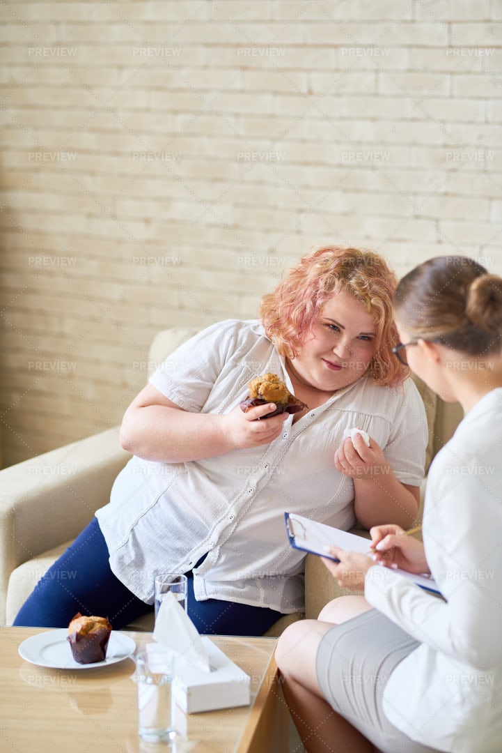 Discussing Eating Disorder With...: Stock Photos