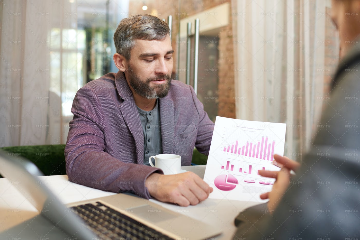 Analyzing Financial Figures With...: Stock Photos