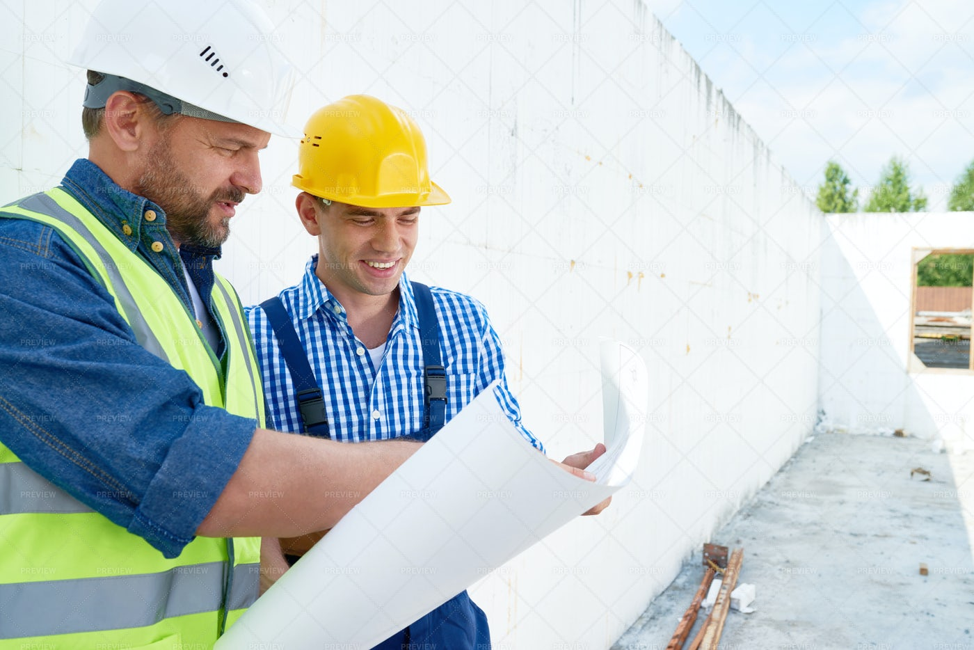 Productive Discussion Of Blueprint: Stock Photos