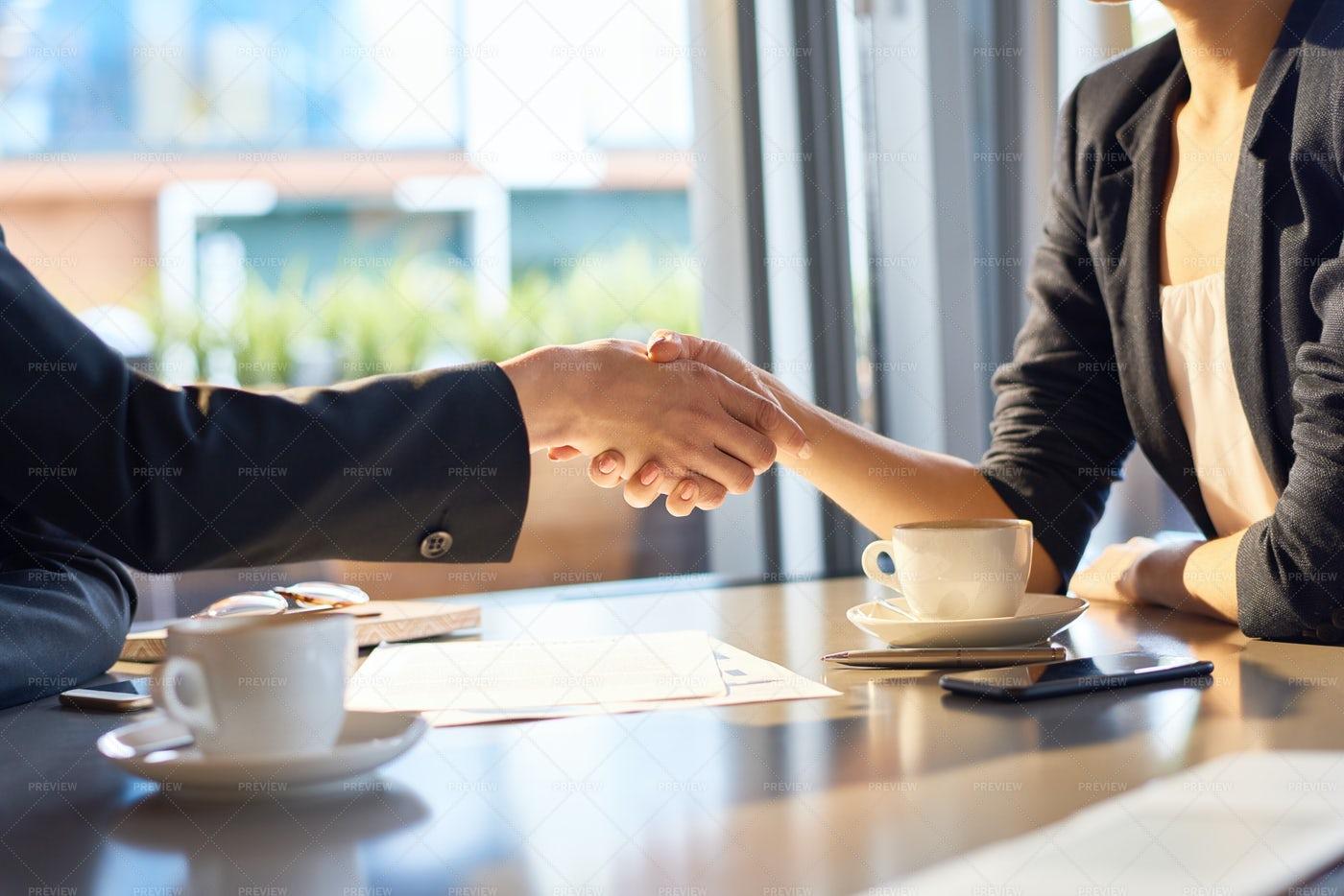 Firm Handshake Of Business Partners: Stock Photos