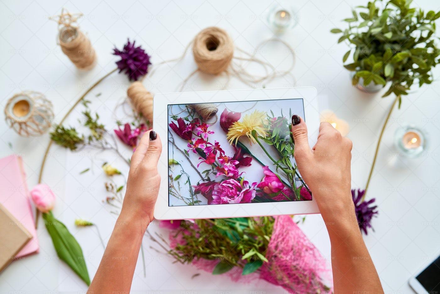 Woman Sharing DIY Craft: Stock Photos