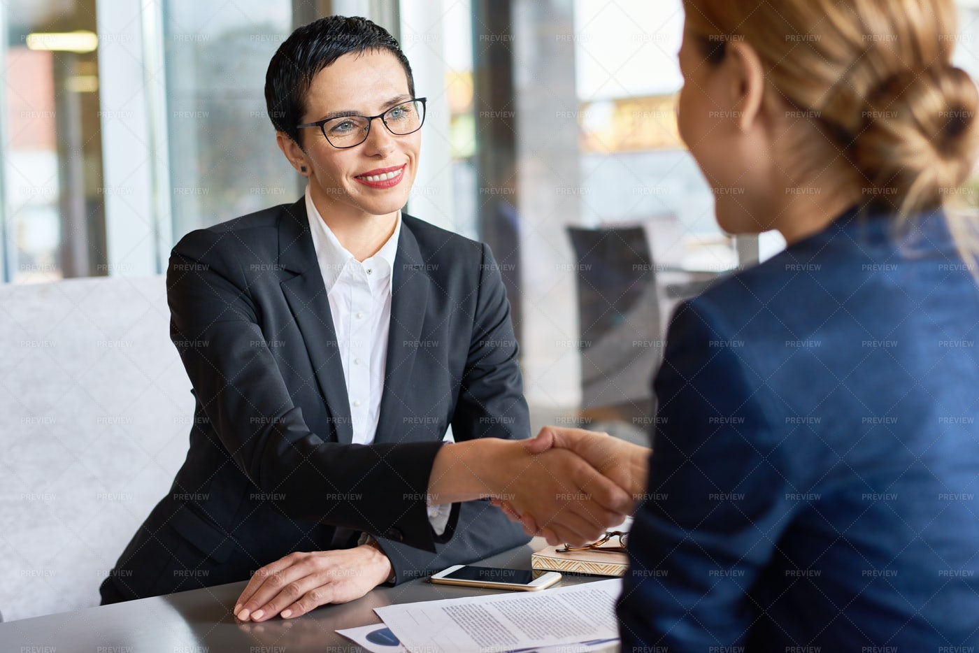 Successful Negotiations Completion: Stock Photos