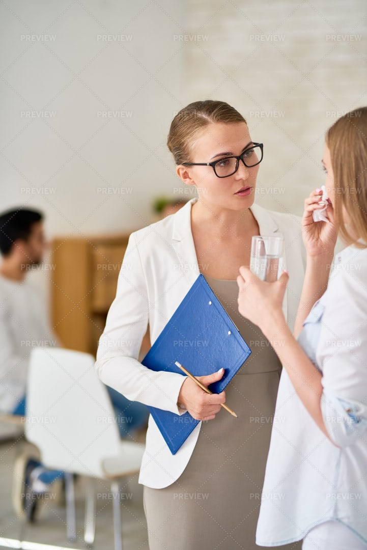 Discussing Problem With Talented...: Stock Photos