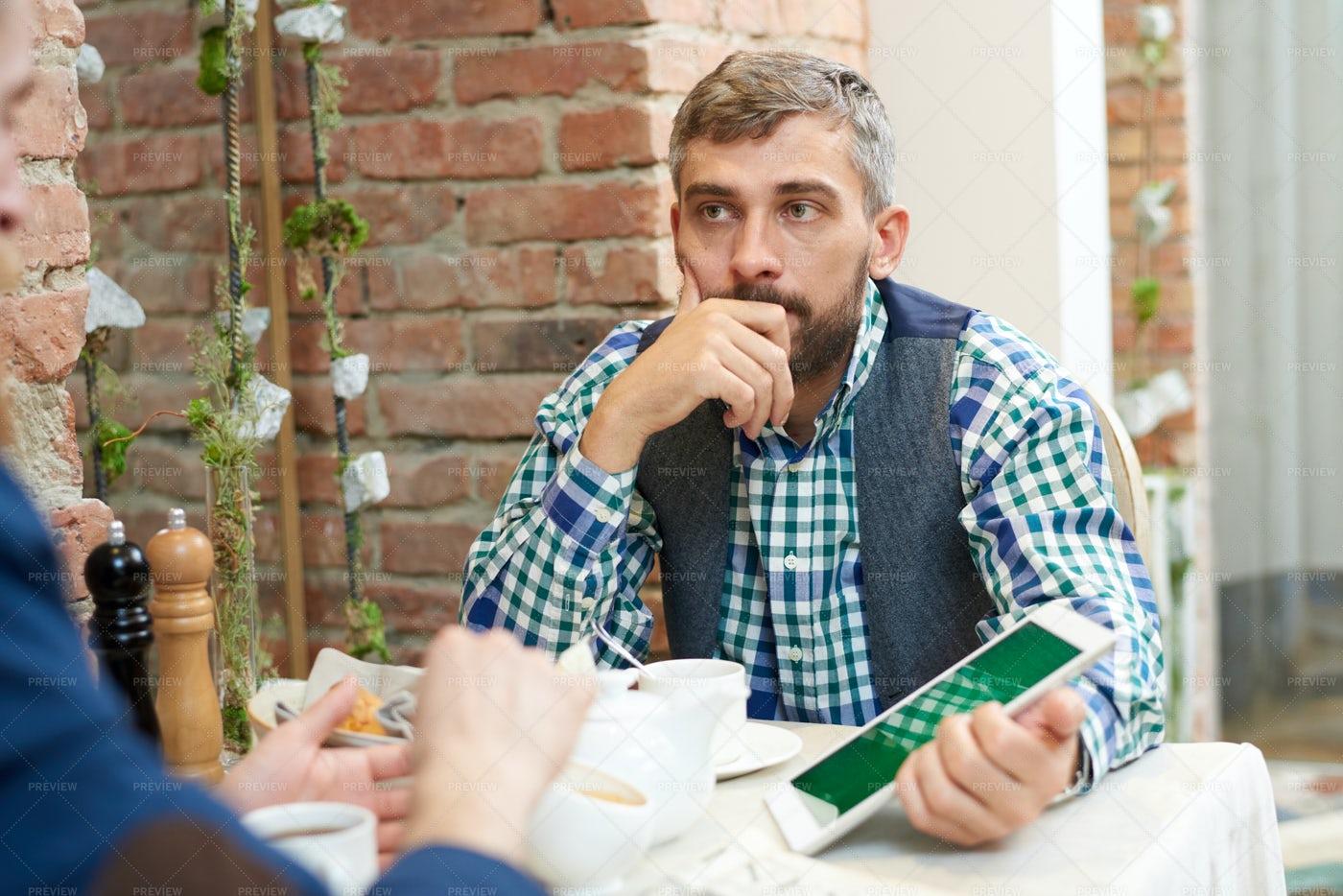 Working Meeting In Informal...: Stock Photos