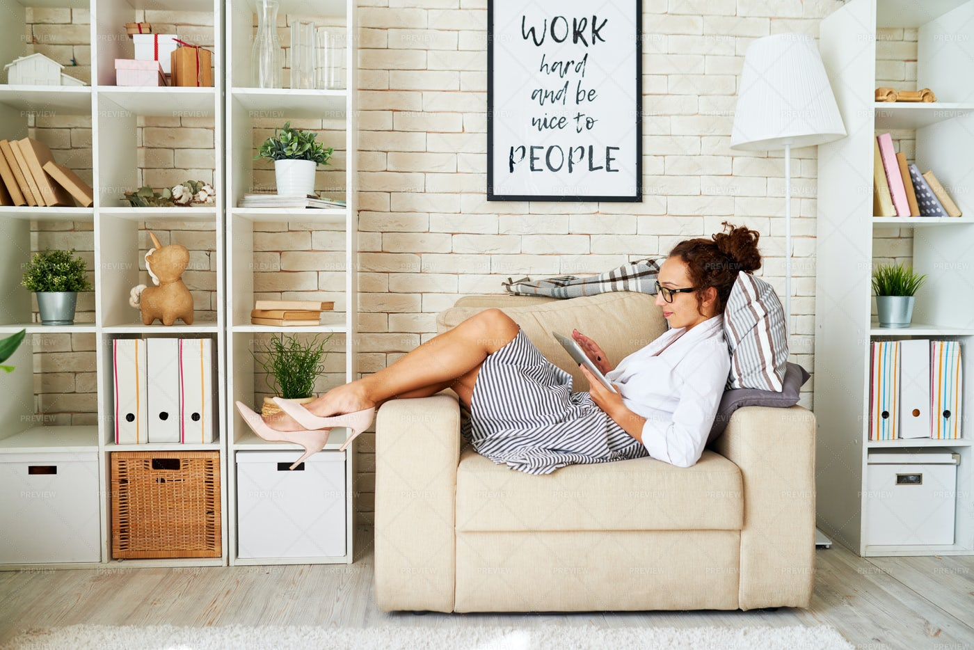 Business Woman Taking A Break: Stock Photos