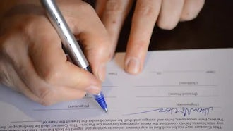 Signing A Contract: Stock Video