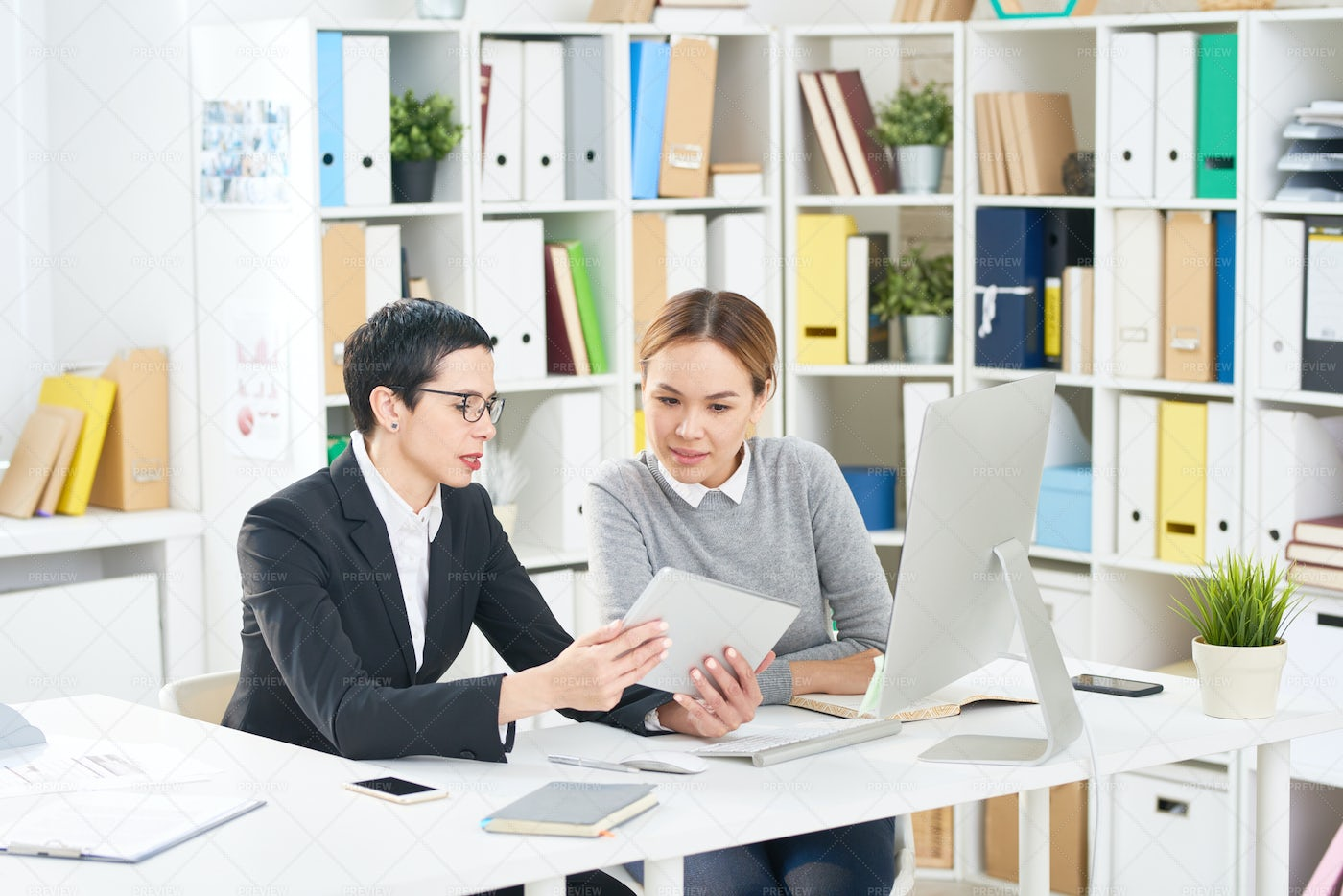 Interior Designers Wrapped Up In...: Stock Photos