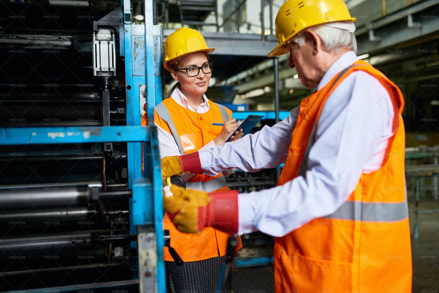 Workers In Factory Workshop: Stock Photos