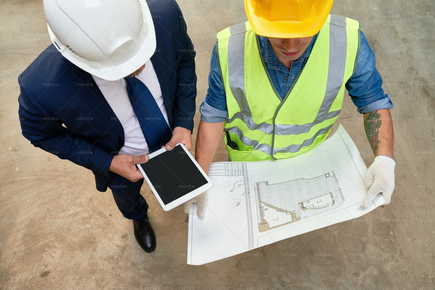 Working Meeting Of Foreman And...: Stock Photos