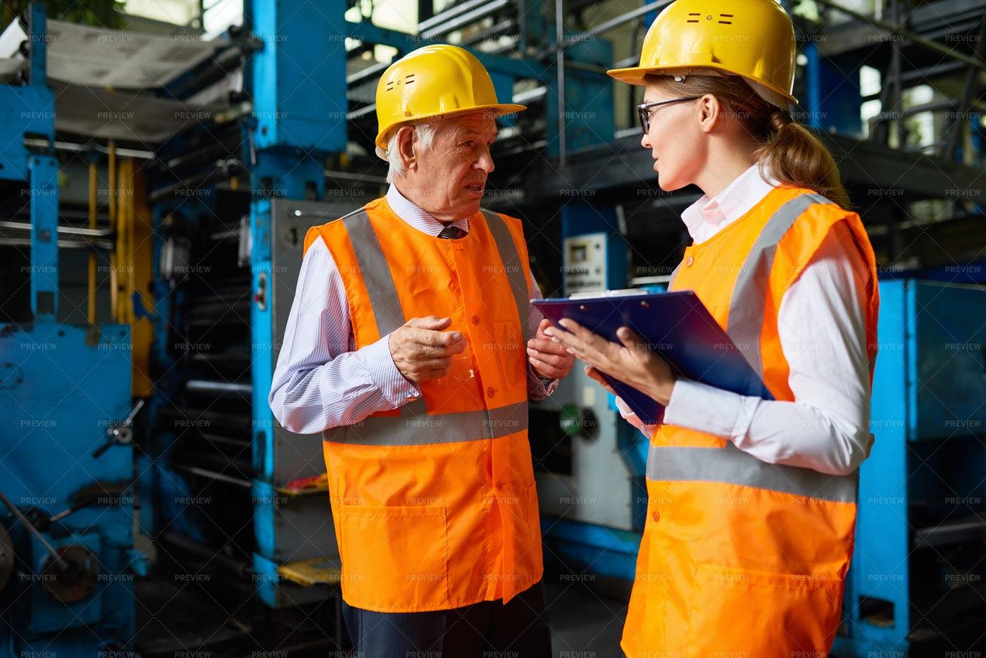 Senior Factory Manager: Stock Photos