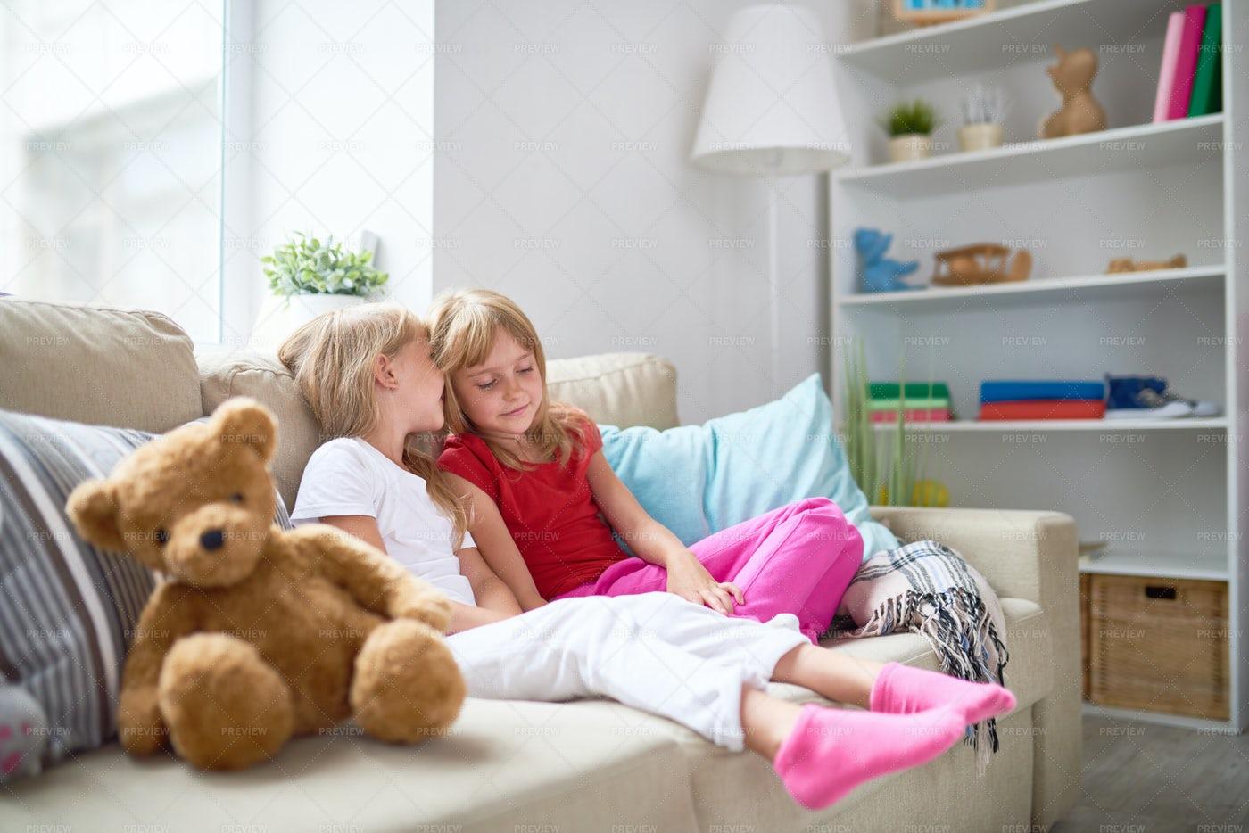 Secrets Of Little Girls: Stock Photos