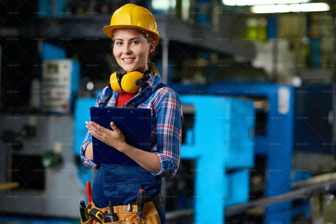 Pretty Technician At Work: Stock Photos