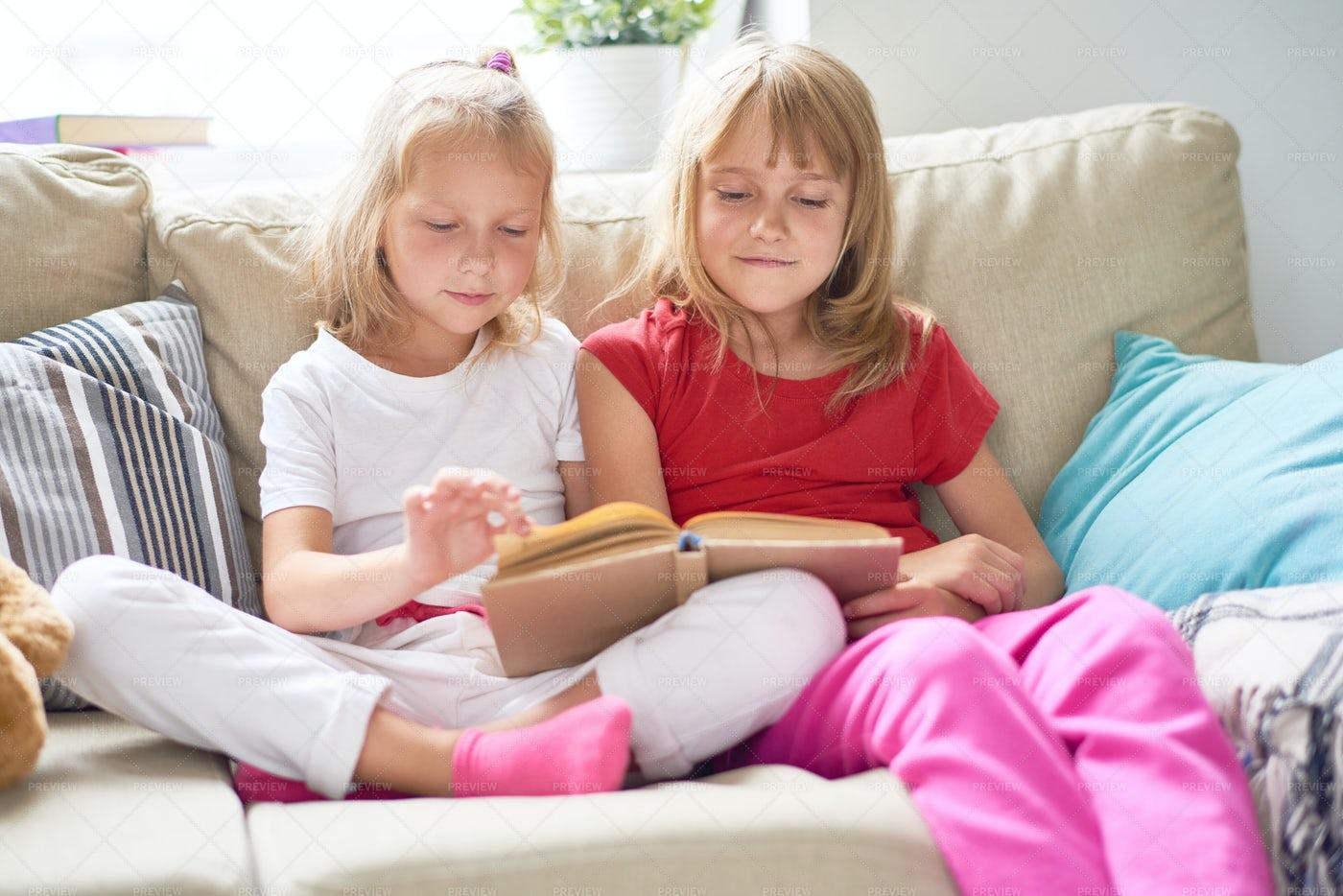 Little Girls Aspiring After...: Stock Photos