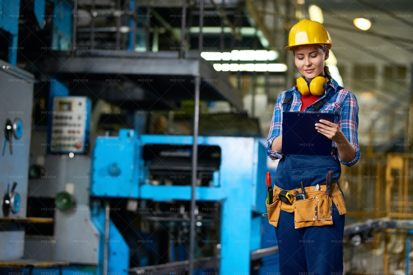 Attractive Plant Worker With...: Stock Photos