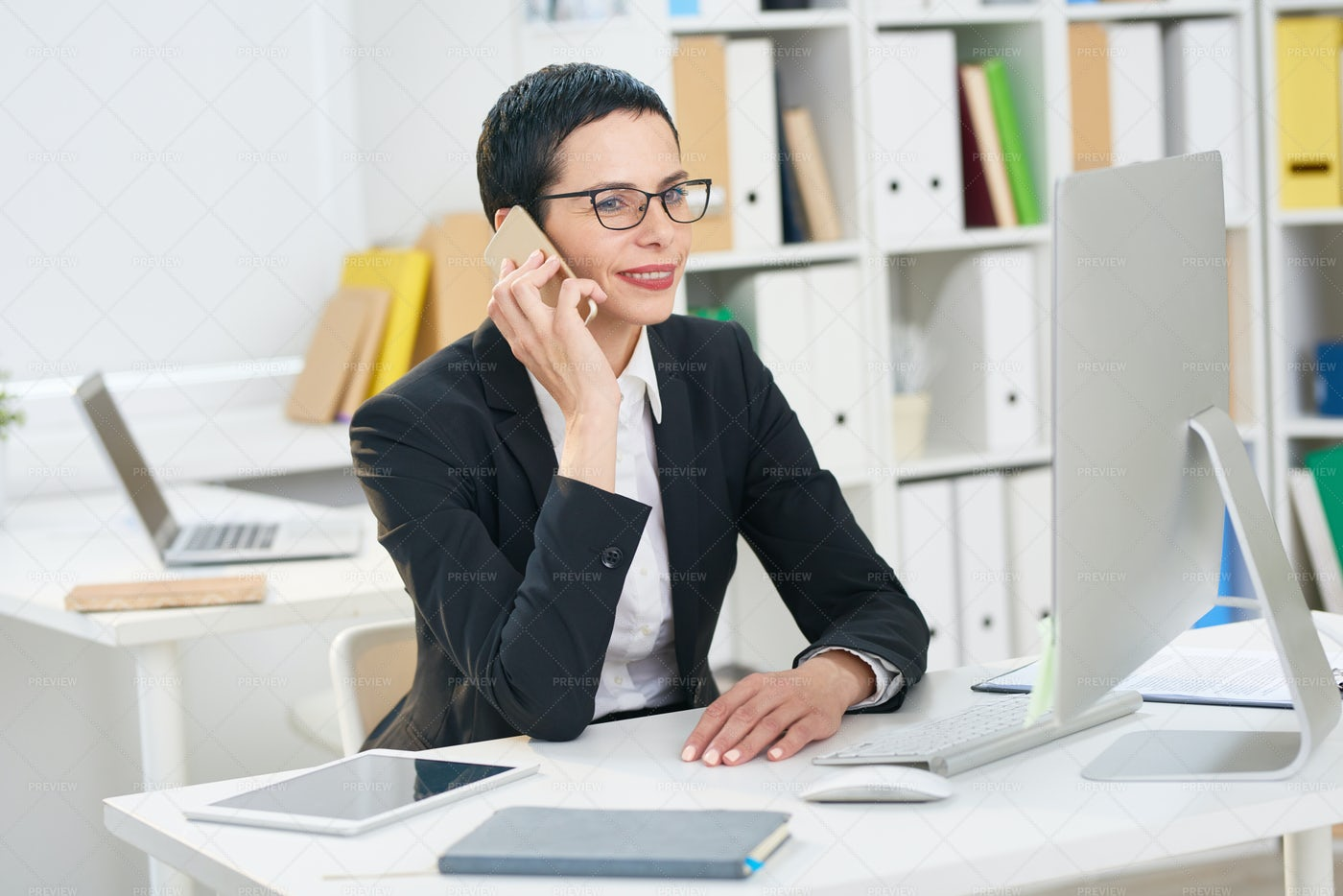 Conducting Telephone Negotiations: Stock Photos