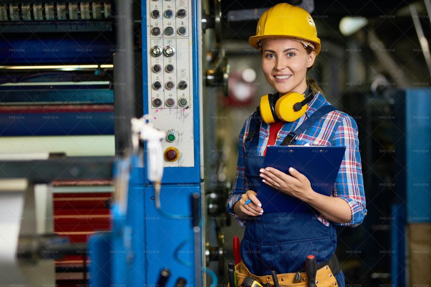 Warehouse Employee Posing For...: Stock Photos