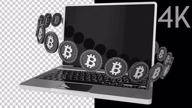 Computer Bitcoin: Stock Motion Graphics