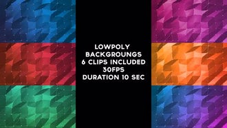 Lowpoly Backgrounds Pack: Motion Graphics